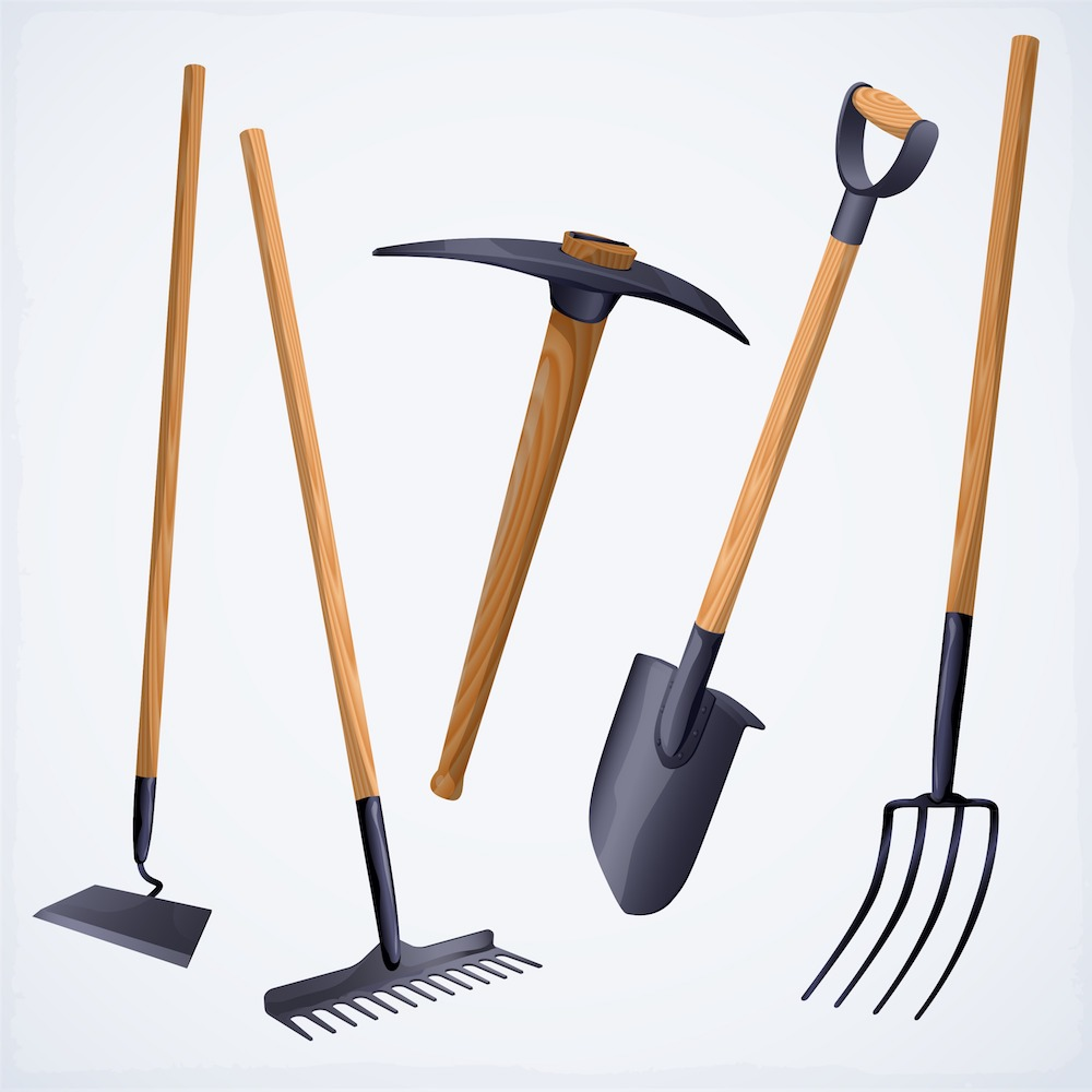 Gardening tools with Tomato Dirt