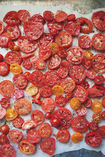 Dried tomatoes from The Little Red House via Tomato Dirt