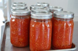 Canned tomatoes with Tomato Dirt