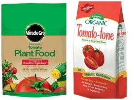 2 tomato fertilizers with Tomato Dirt