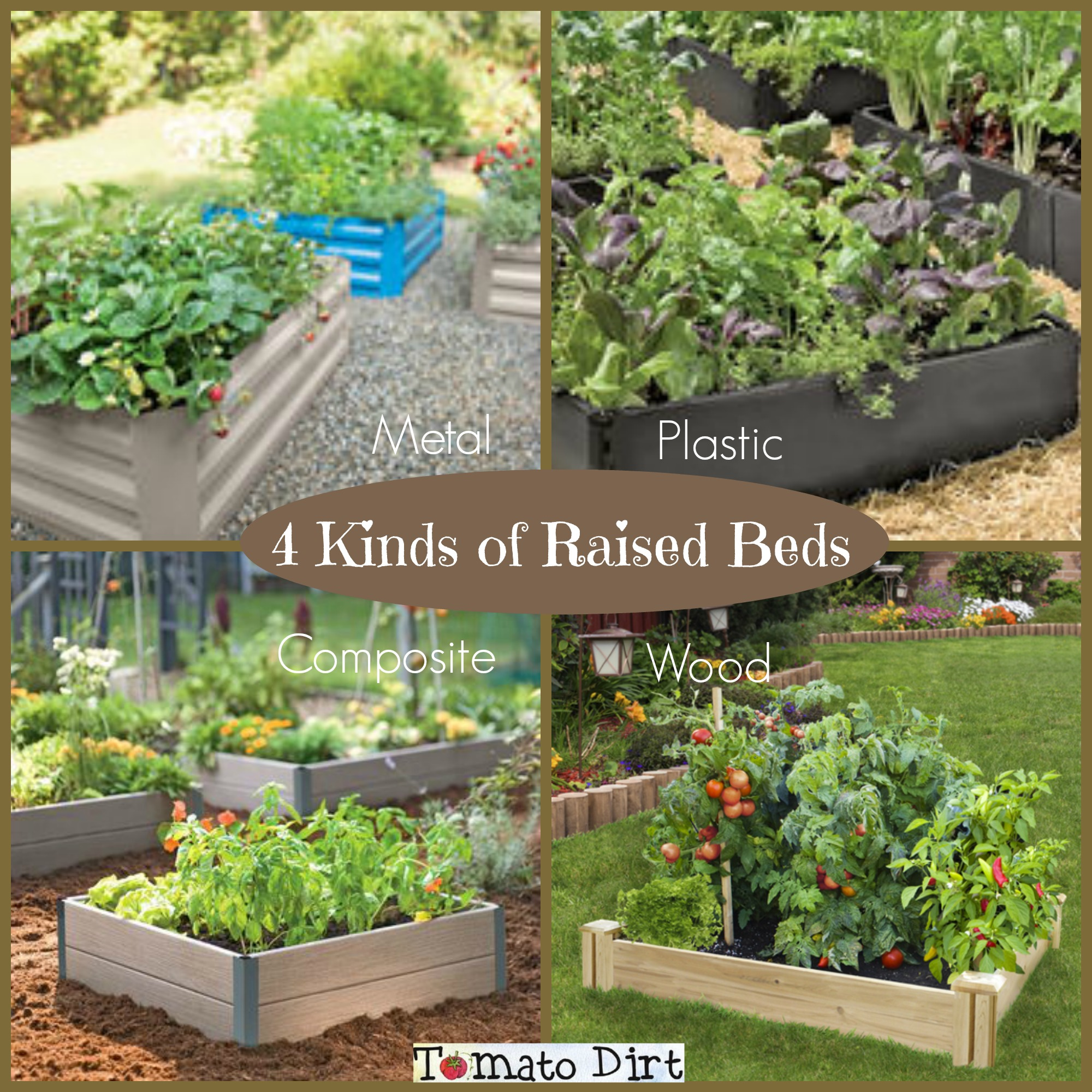 4 kinds of raised garden beds for growing tomatoes from Tomato Dirt