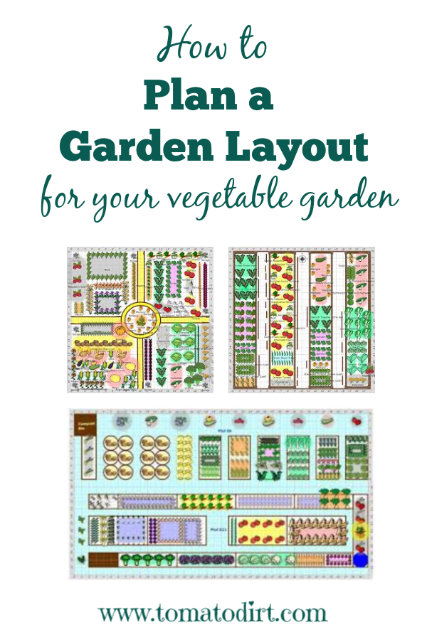How to plan a garden layout with Tomato Dirt #GrowingTomatoes #HomeGardening