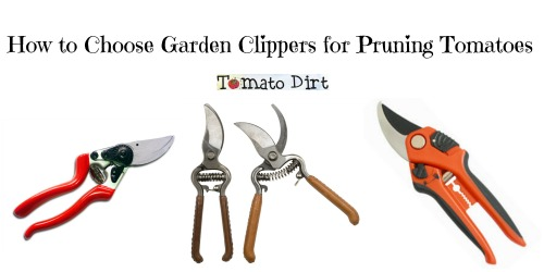 How to choose garden clippers for pruning tomatoes from Tomato Dirt