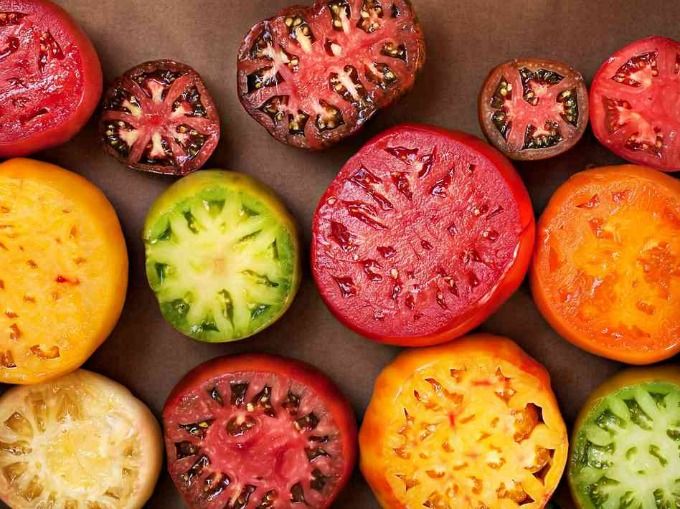 Heirloom tomatoes with Tomato Dirt