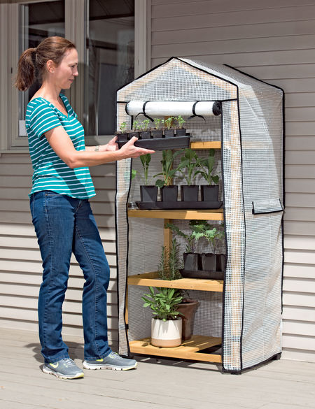 A pop up greenhouse is useful for starting and growing tomatoes. Tomato Dirt.
