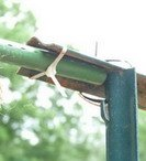 use nylon ties to attach trellis bars